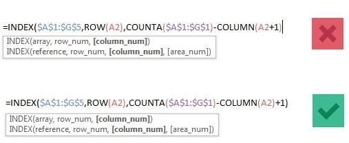 فرمول نویسی اکسل - اهمیت پرانتزها