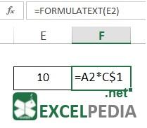 آموزش فرمول نویسی در اکسل - تابع FormulaText