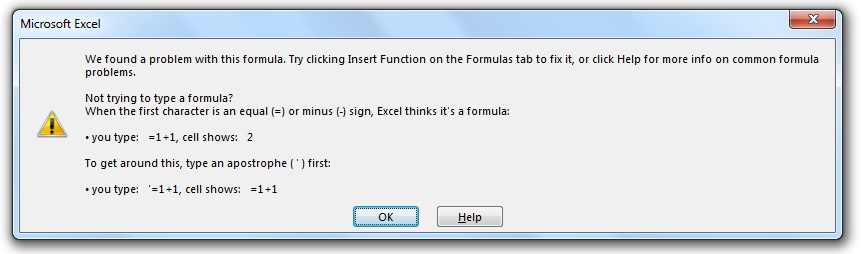 فرمول نویسی اکسل - خطای پرانتزها