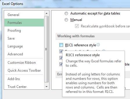 آدرس دهی- تغییر نوع آدرس دهی دراکسل