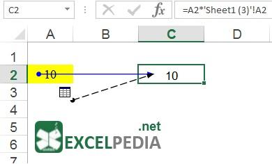 آموزش فرمول نویسی در اکسل - نمایش سلول های تأثیرگذار