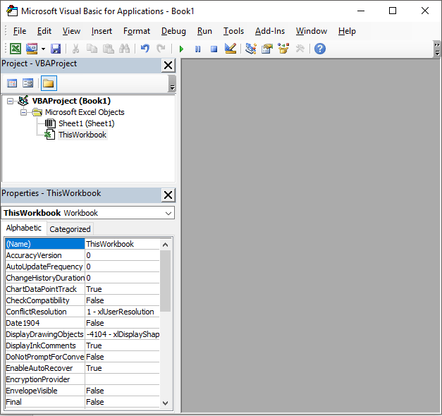 ماکرو در اکسل - محیط برنامه نویسی