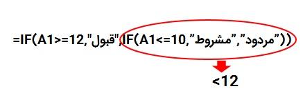 استفاده از چندین تابع If اکسل در هم