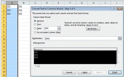 متن به عدد - تبدیل متن به عدد با استفاده از Text to Columns