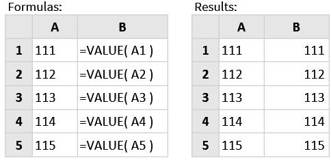 متن به عدد - تابع Value