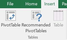Pivot Table - ایجاد پیوت
