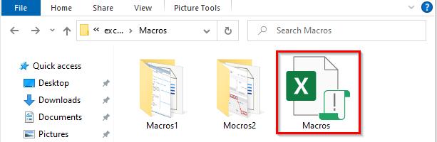 نحوه نمایش فایل اکسل حاوی ماکرو