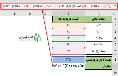استفاده از آدرس سلول ها به جای مقادیر سلول ها در فرمول