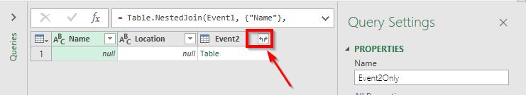 نحوه نمایش اسامی در جدول دوم (Event 2)