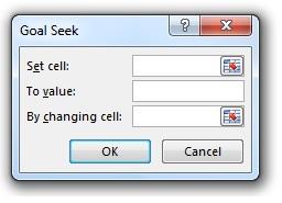 ابزار goal seek - پنجره Goal Seek