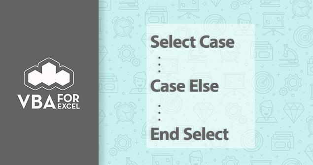دستور select case در اکسل