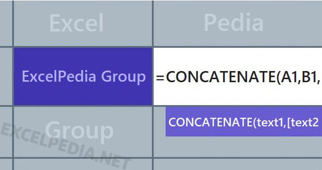 آموزش تابع Concatenate در اکسل