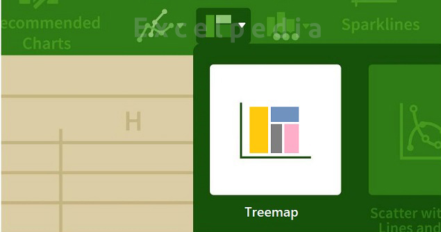 نمودار درختی در اکسل