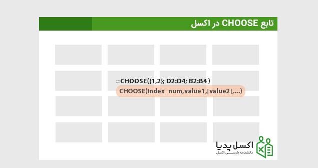 ترکیب های تابع Choose