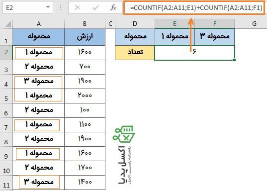 """محاسبه شرط های چندگانه با منطق OR """"یا"""""""