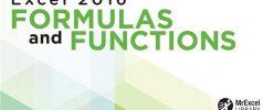 دانلود کتاب Excel 2016 Formulas and Functions