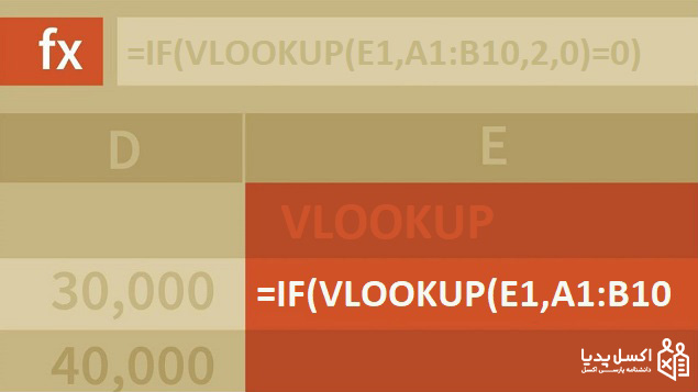 ترکیب توابع با تابع Vlookup