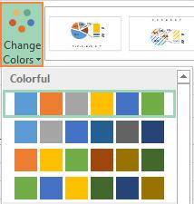 تغییر تم رنگ نمودار