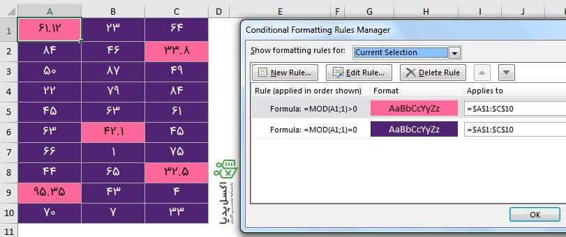 فرمت دهی اعداد اعشاری و صحیح