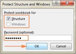 قفل کردن ساختار فایل اکسل