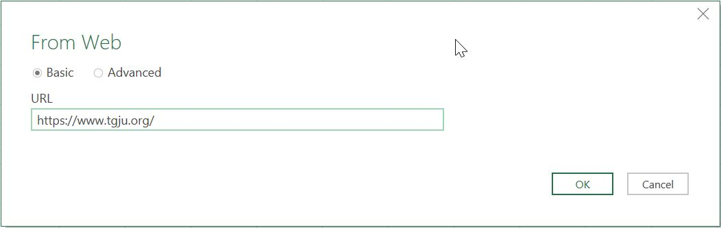 استخراج داده از وبسیات – آدرس سایت مورد نظر