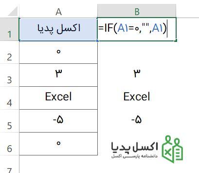 استفاده از تابع IF