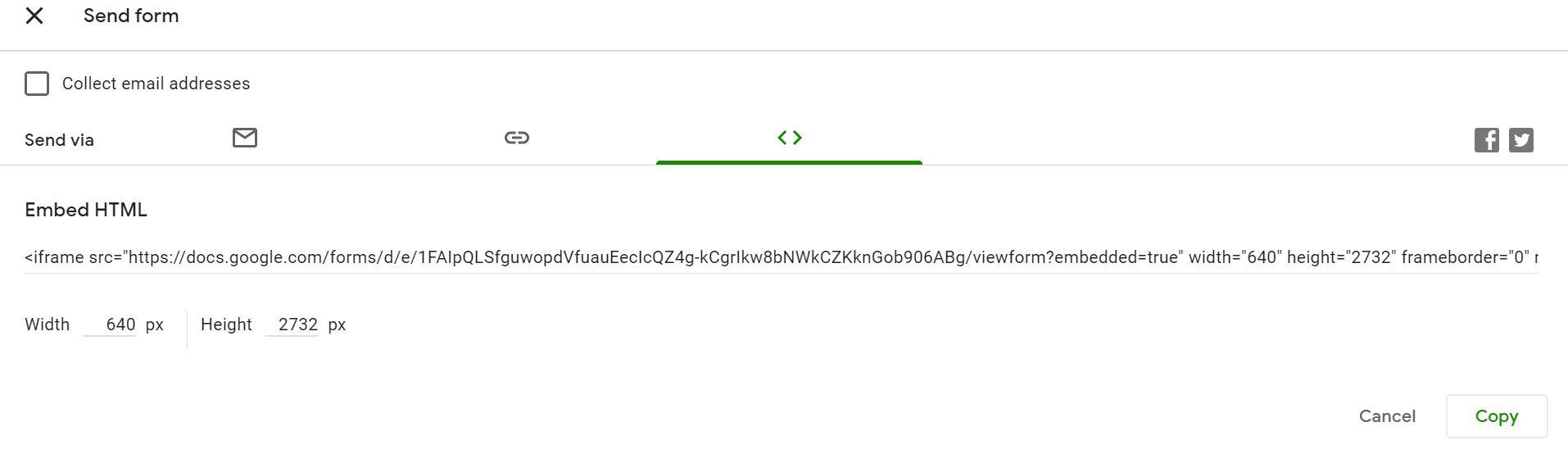 انتشار از طریق کد HTML