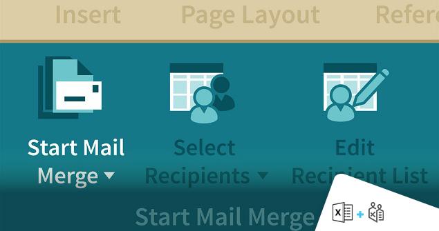 ابزار Mail Merge